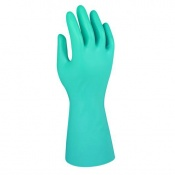Marigold Industrial Green Nitrile G26G Chemical-Resistant Gauntlet Gloves
