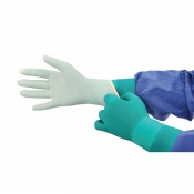 Medline Signature Latex Green Powder-Free Surgical Gloves MSG55