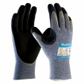 MaxiCut Oil Resistant Level C Palm Coated Grip Gloves 34-504 (Pack of 12 Pairs)