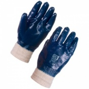 Supertouch Nitrile Heavyweight Full Dip Knit Wrist Gloves 2207 (Case of 120 Pairs)