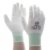 PU-Coated PCP White Precision Handling Gloves PCP-WH