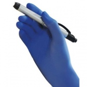 Polyco GL890 Bodyguards Blue Nitrile Disposable Gloves (Case of 1000 Gloves)