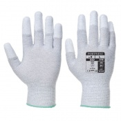 Portwest A198 Antistatic PU Fingertip Grey Gloves