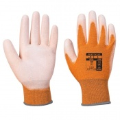 Portwest A199 Anti-Static PU Palm Coated Orange Gloves
