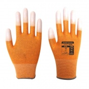 Portwest A198 Antistatic PU Fingertip Orange Gloves