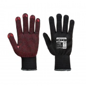 Portwest Dot Grip Dexterous Black Gloves A110BK