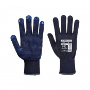Portwest Dot Grip Dexterous Navy Gloves A110NA