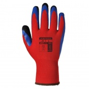 Portwest Duo-Flex Latex Handling Red and Blue Gloves A175R4