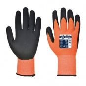 Portwest Hi-Vis Cut-Resistant Orange and Black Gloves A625O8