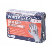 Portwest Nitrile Grip Grey and White Gloves for Vending Machines VA310