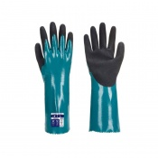 Portwest Nitrile Sandy Grip Chemical-Resistant Gauntlets AP60