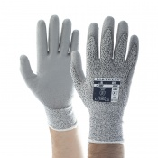 Portwest PU Palm Coated Cut-Resistant Grey Gloves A620GR