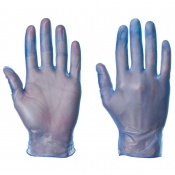 Supertouch Blue Powdered Vinyl Gloves 1101