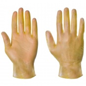 Supertouch Yellow Powdered Vinyl Gloves 1104