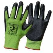 Predator Green Nitrile Coated Cut Level 5 Safety Gloves NSUH