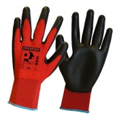 Predator Red Polyurethane Coated Cut Level 1 Safety Gloves PUPL
