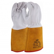 Premium Kevlar TIG Gauntlets with Golden Cuff  WG-TIG