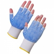 Supertouch 3022 PVC Dot Palm Fingerless Work Gloves