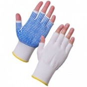 Supertouch PVC Dot Assembly Fingerless Dot Palm Gloves 3012