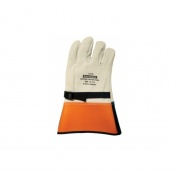 Salisbury Cowhide Leather Arc Flash Protector Gloves with Hi-Vis Cuffs
