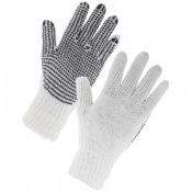 Supertouch Seamless Mixed Fibre PVC Dot Palm Gloves 2657