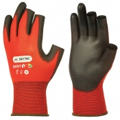 Skytec Red Digit Fingerless Gloves