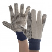 Supertouch Cotton Drill Polka Dot Gloves - 12oz 2627