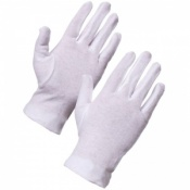 Supertouch White Cotton Gloves Forchette 2550