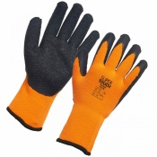 Supertouch Topaz Cool Orange-and-Black Thermal Work Gloves SPG-1081-5