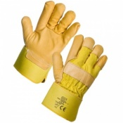 Supertouch Yellow Hide Leather Rigger Gloves 21643