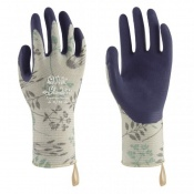 Towa Luminus TOW368 Herb-Patterned Premium Latex-Coated Gardening Gloves