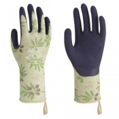Towa Luminus TOW369 Olive-Patterned Premium Latex-Coated Gardening Gloves