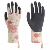 Towa Luminus TOW506 Rose-Patterned Premium Nitrile-Coated Gardening Gloves