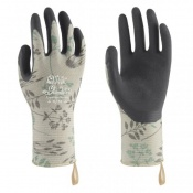 Towa Luminus TOW507 Herb-Patterned Premium Nitrile-Coated Gardening Gloves