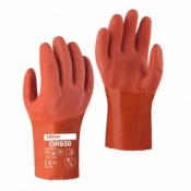 Towa OR650 25cm PVC-Coated Oil-Resistant Gloves