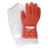 Towa OR652 60cm PVC-Coated Oil-Resistant Gloves and Sleeves