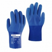 Towa OR655 25cm PVC-Coated Oil-Resistant Gloves