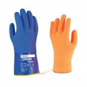 Towa OR658 Thermo 30cm PVC-Coated Oil-Resistant Gloves