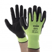 Uvex Unidur 6659 GR Green PU-Coated Cut Resistant Gloves