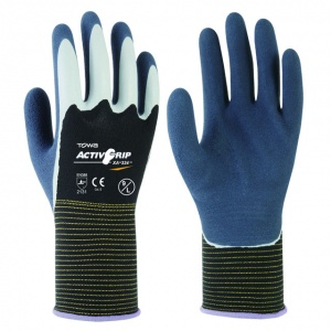 Towa ActivGrip XA-324 Latex-Coated Gloves with Black Liner