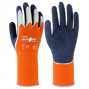 Towa ActivGrip XA-325 Latex-Coated Gloves with Orange Liner