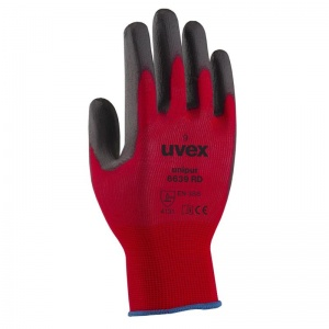 Uvex Unipur 6639 Red PU Coated Safety Gloves