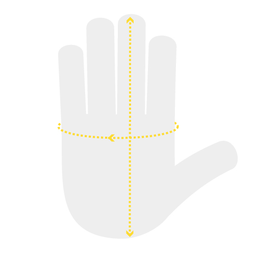 Where to Measure Your Hand