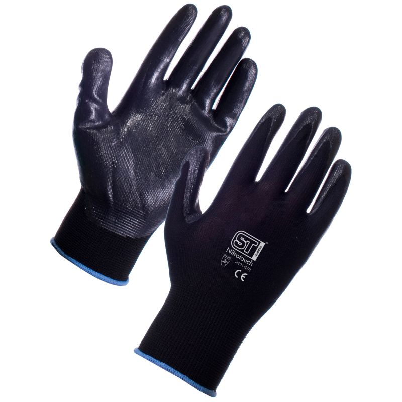 Top Pick Palm Dipped Gloves - Supertouch Nitrotouch