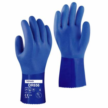 Towa OR656 30cm PVC-Coated Oil-Resistant Gloves