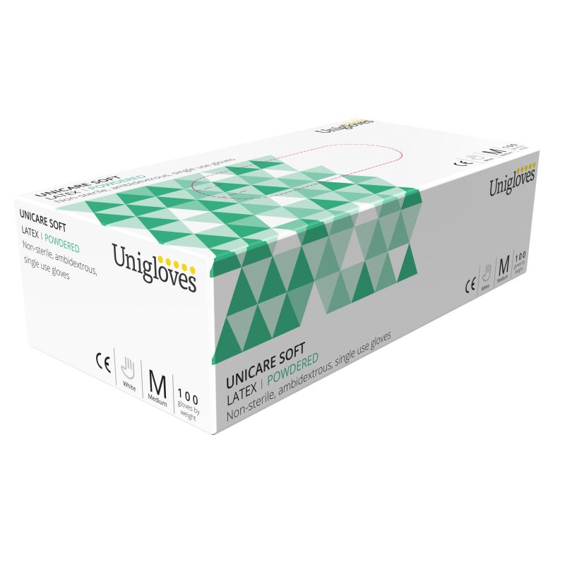 Unicare Latex Examination Gloves